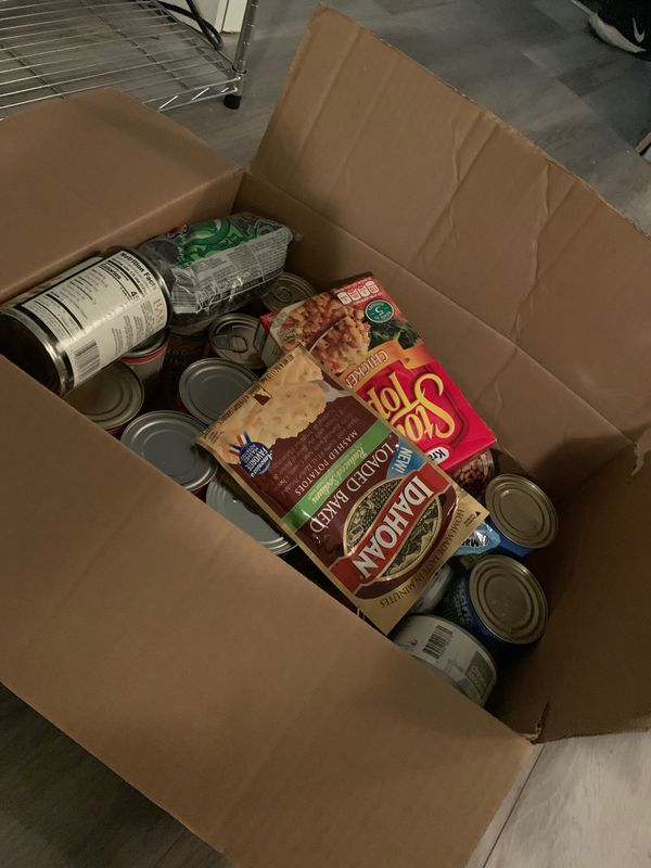 Free canned goods!