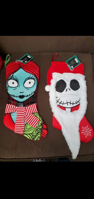 Jack and Sally Christmas Stockings The nightmare before Christmas for Sale in Ontario, CA