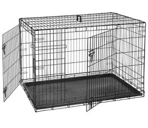 Double-Door Folding Metal Dog or Pet Crate Kennel WITHOUT TRAY!!! for Sale in Farmersville, TX