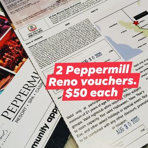 Reno Voucher for Peppermill (2) for Sale in San Jose, CA