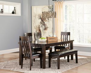 Ashley Furniture Dining Set, Rustic Brown Finish for Sale in Santa Ana, CA