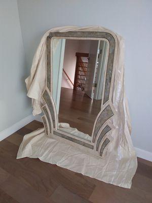 Marble mirror with brass trim for Sale in Walnut Creek, CA