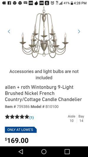 9 light chandelier for Sale in Gainesville, FL