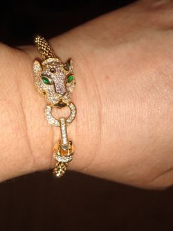 Gold Plated Jaguar Bracelet With CZ Stones for Sale in Hollywood,  FL