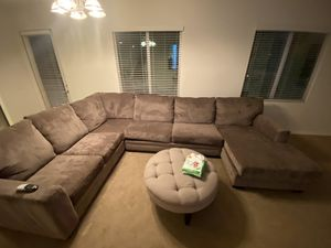 Huge sectional couch BROWN for Sale in Upland, CA