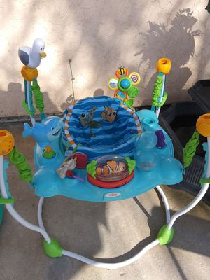 Bright Stars baby jumper musical sounds seat cover wash clean sanitize ready to use $30 for Sale in Moreno Valley, CA