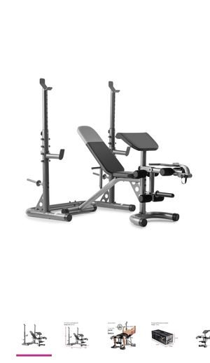 Weider xrs 20. Weight bench preacher pad leg developer with squat rack. for Sale in Alhambra, CA