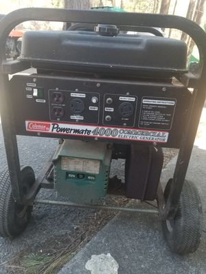 Coleman 4000w generator for Sale in Halifax, MA