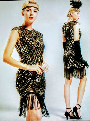 Gatsby 1920's Flapper Sequins Beaded dress for Sale in Whittier, CA