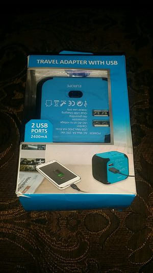 Travel Adapter With USB for all countries for Sale in El Cajon, CA
