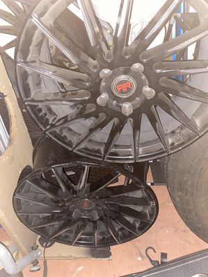 22 inch all black rims for Sale in Lake Worth, FL
