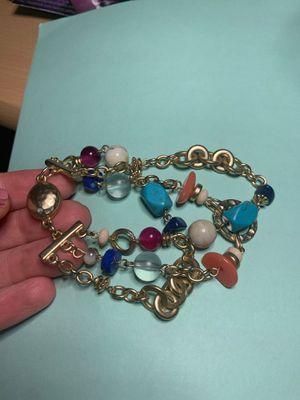 3 stretch multi colored stone bracelet for Sale in Fresno, CA