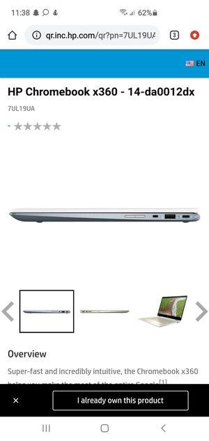 Hp Cromebook # 360 for Sale in Anaheim, CA