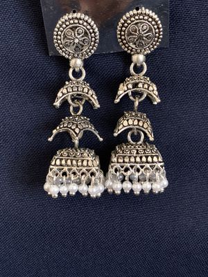 Jhumkas ( silver indian earring) for Sale in Laurel, MD