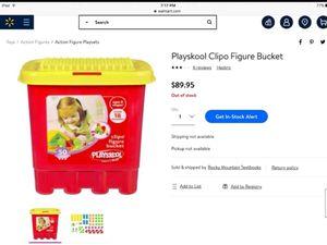 Playskool Building Blocks & Clipo Figure Bucket for Sale in Columbia, TN