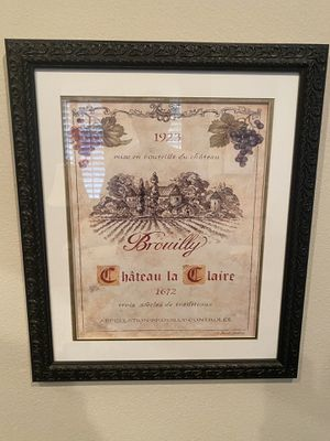 Framed Wine Pictures for Sale in Orlando, FL