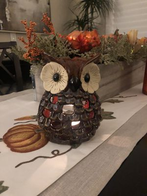 Ceramic Autumn Owl tea candle holder for Sale in Diamond Bar, CA
