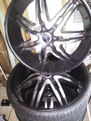 "26"" rims and tires for Sale in Winter Haven, FL"