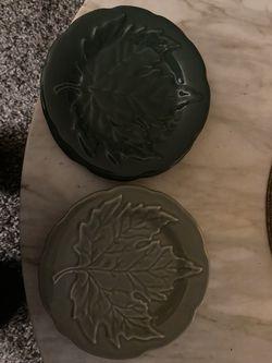 Longaberger Dessert Leaf Plates for Sale in Frederick,  MD
