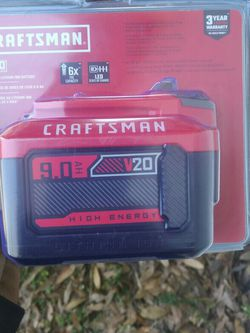 Craftsman 9.0 Ah V20 High Energy Lithium Battery for Sale in Fort Myers,  FL