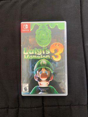 Luigi's Mansion 3 Switch for Sale in Pico Rivera, CA