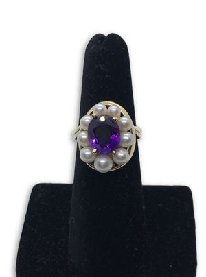 14k Amethyst/ Pearl Ring for Sale in Alexandria, VA