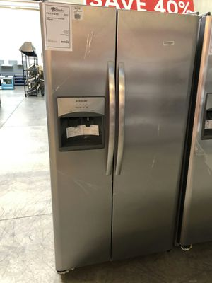 New! 25.5 CuFt Stainless Steel Side By Side Refrigerator 1 Year Manufacturer Warranty Included for Sale in Gilbert, AZ