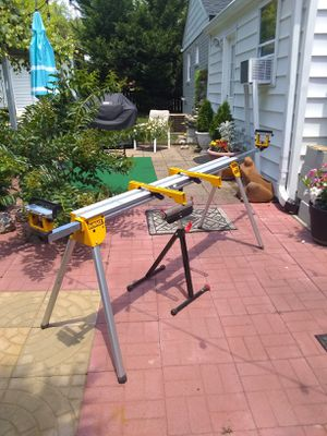 Miter saw stand ..two pieces. for Sale in Silver Spring, MD