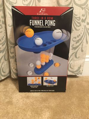 THREE IN A ROW FUNNEL PONG for Sale in Fuquay-Varina, NC