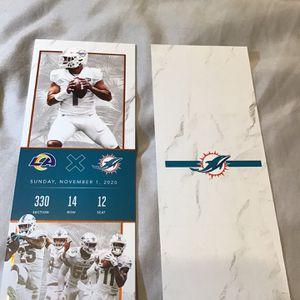 Tua Tagavailoa Commemorative Ticket for Sale in Miami, FL