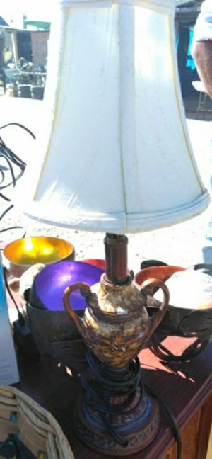 Trophy style lamp with white shade asking 20 for Sale in Oklahoma City, OK