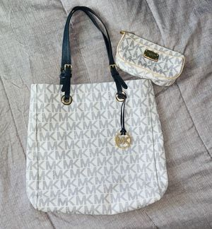 Michael Kors Navy and White purse and wallet for Sale in Morrison, CO