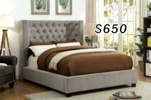 QUEEN BED FRAME W/ MATTRESS for Sale in Lynwood, CA