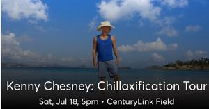 4 tickets to Kenny Chesney at CenturyLink 214 for Sale in Seattle, WA