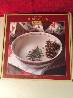 Spode Christmas Tree Annual Serving Bowl for Sale in Tacoma, WA