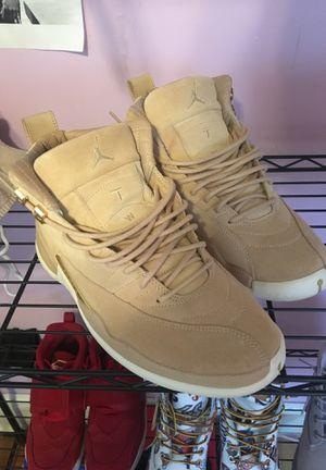 Jordan's 12 vachetas tan for Sale in Washington, DC