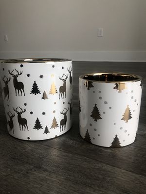 Christmas design decoration plant pots for Sale in Tampa, FL