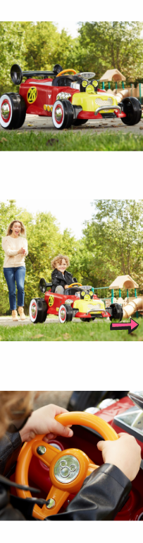 NEW Disney Mickey Roadster Racer Ride On Kid Toy Car Girl Play Fun Boy Electric Battery Powered Flashing Cool Drive Travel Outdoor *↓READ↓* for Sale in Chula Vista, CA