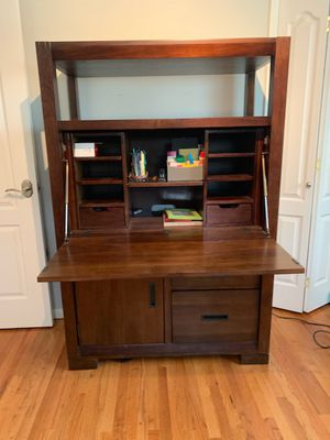 Hardwood secretary desk for Sale in Los Angeles, CA