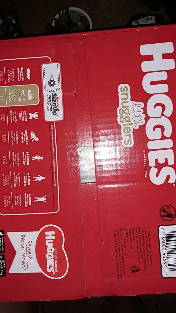 Huggies diapers, unopened 192 count, size 1