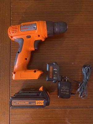BLACK+DECKER 20v Cordless Power Drill for Sale in Chicago, IL