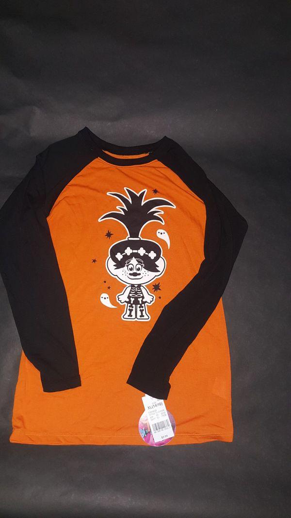 DreamWorks Trolls Halloween Tee| Color: Orange| Size: XL(14/16)