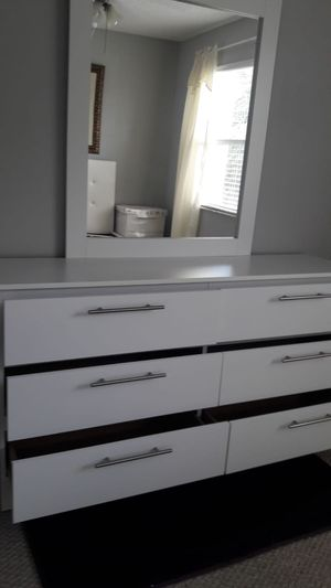 NEW SIX DRAWER DRESSER AND MIRROR AVAILABLE FOR DELIVERY for Sale in Key Biscayne, FL