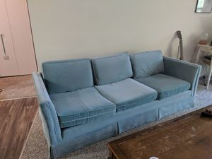 Soft Blue Couch for Sale in Macon, GA