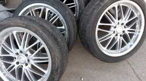 17 INCH RACING RIMS UNIVERSAL 4 LUG FIT MOST CARS for Sale in Industry, CA