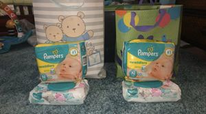 Baby clothes and diapers and wipes for Sale in Phoenix, AZ