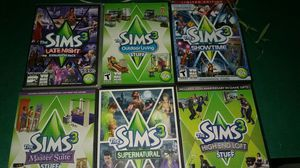6 Sims3 Pc games for Sale in Rock Island, IL