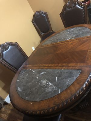 Wood dining table 6 chairs for Sale in Portland, OR
