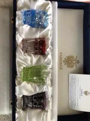FABERGE' Crystal Vodka Shot Glasses for Sale, used for sale  College Park, GA