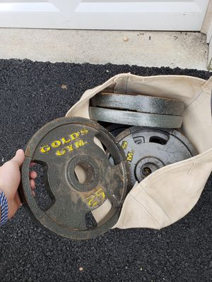 Barbell weights 25lbs x 8 for Sale in Schwenksville, PA